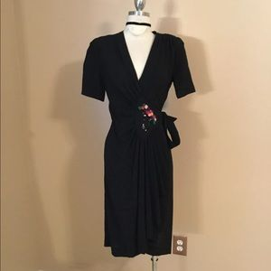 True vintage 1920's sequined Wrap Dress XS/S Sexy